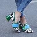 Plaza baja mujeres tacones altos diseñador mujer de la alta calidad para mujer de los zapatos ocasionales cómodos bombas hebilla vestido de moda de la oficina MD340