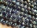 Frete Grátis natural iolite 8mm liso rodada mecha solta beads pedra atacado para design de jóias fazer