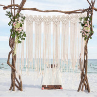 Nordic Style Hand Woven Ornaments Charm Bohemian Tapestry Wedding Wall Decoration Wall Home Decoration Gifts