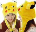 2016 New Adults Costume Pokemon Pikachu Stuffed Animal Cap Hat Plush Beanie Caps Cosplay  Women Men's Children Kids  Hatat