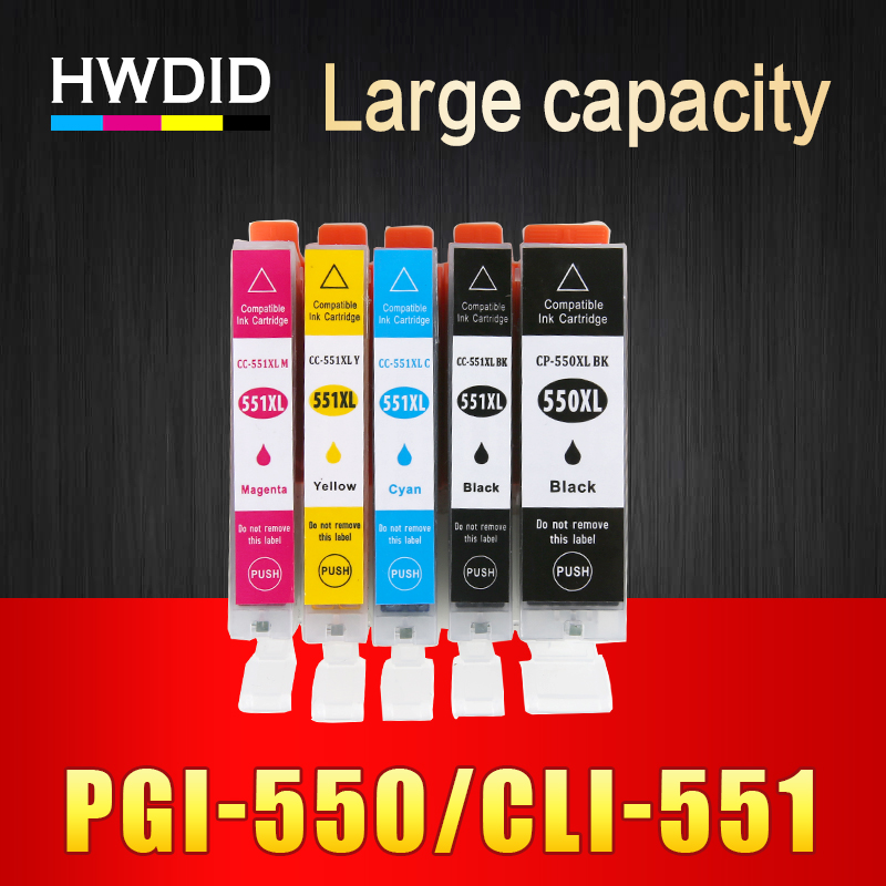 HWDID pgi-550 pgi 550 cli-551 XL Compatible ink cartridge PGI550 CLI551 for Canon PIXMA IP7250 MG5450 MX925 MG5550 MG6450 MG5650 free shipping pgi 350 cli 351 ink cartridge for canon ip7230 mg5430 mx723 mx923 pgi 350
