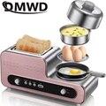Multifunções café da manhã máquina de cozimento pão 2 fatias torradeira elétrica forno ovos caldeira alimentos a vapor omelete bife frigideira