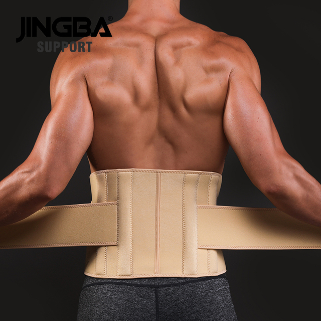 JINGBA SUPPORT mens waist trimmer Weight Loss slimming belt neoprene fitness belt back waist support Sweat belt waist trainer