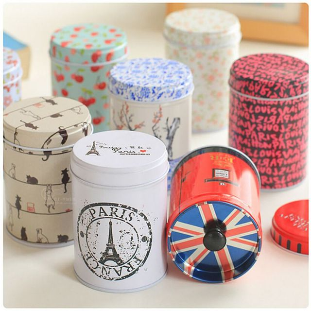 Hot Double Layer Seal Candy Storage Box Tea Caddy Receive Box Tin Box Container Household Storage Bottles Jars