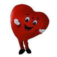 Красное сердце из взрослых Маскоты костюм для взрослых Размеры Fancy Heart Маскоты костюм
