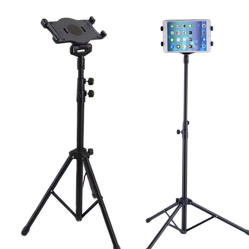 Universal Multi-direction Floor Stand Tablet Tripod Mount Holder For 7-10 Inch iPad Mini Air Samsung @JH tripod rotation tablet holder stand for ipad air mini 2 3 4 tablet mount 7 10 inch floor tripod stand for samsung kindle huawei