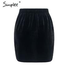 Simplee Embroidery high waist skirts womens bottom Vintage short boho style chic pencil skirt female  autumn sexy mini skirt