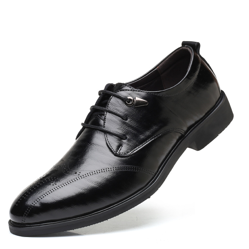 on Bico Casamento cinza Preto Escuro Slip marrom De Oxfords Formal Sapatos Fino Homens Negócios Vestido wHS00q