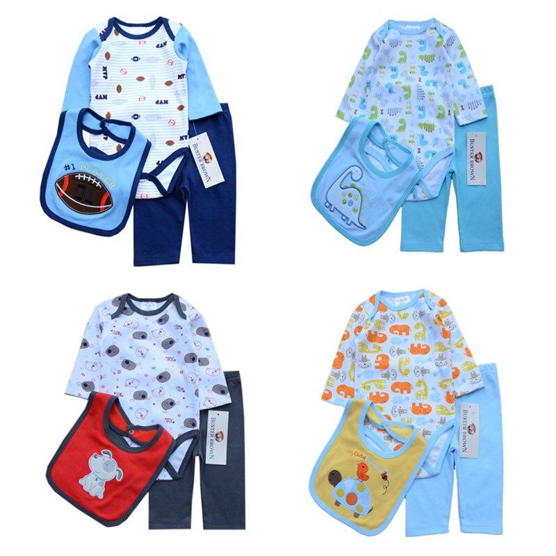 ٩(^‿^)۶3 unids/lote bebé niña ropa romper + BIBS + Pant Infantil ...