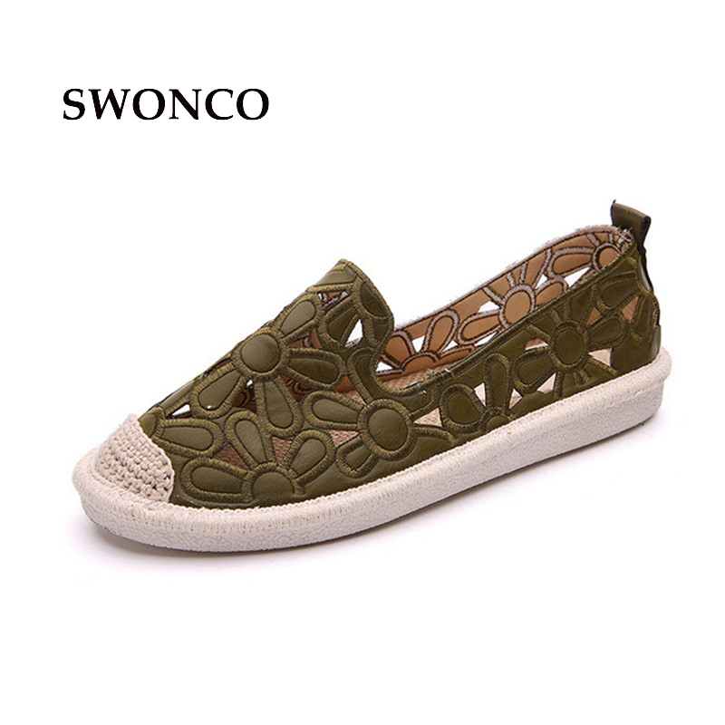 SWONCO Women's Flats 2018 Summer Weave Straw Ladies Loafers Shoes Women Flats Shoes Slip On Comfort Solid Woman Casual Shoe клавиатура проводная defender hm 430 usb черный