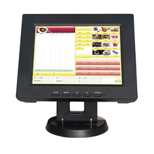 """Free Shipping High Quality 12"""" All In The PC Touch Screen Monitor POS System Black TM1201 For Supermarket(China (Mainland))"""