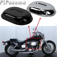 Pazoma Motorcycle Chrome/Black Plastic Intake Air Cleaner Filter Cover Cap For Honda VT 750DC SHADOW SPIRIT 2001 2007
