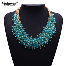 2019 Hot Sale Fashion Choker Necklace Bib Collar Necklaces & Pendants Chunky Crystal Statement Necklace for Women Jewelry XG134