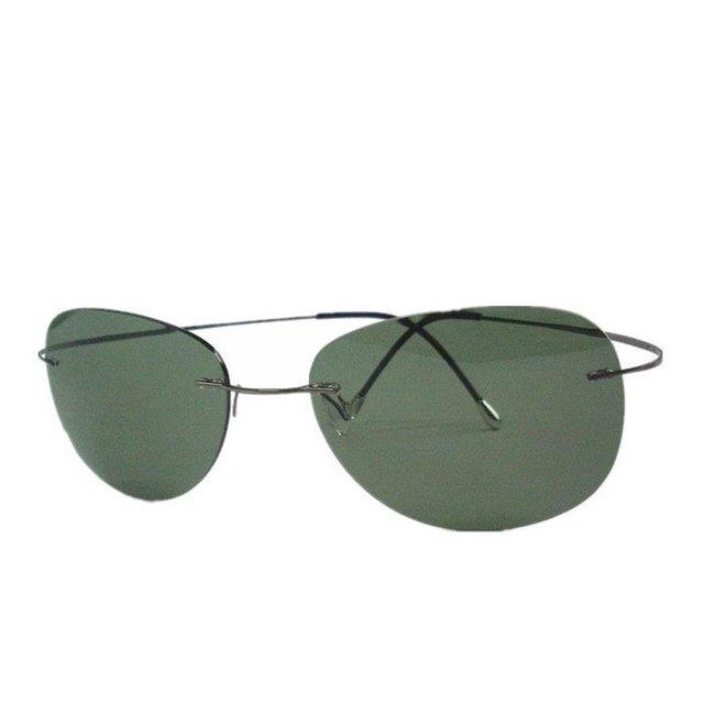 Luxo Ultra-leve e Flexível de Titânio Puro Sem Aro Espelho Polarizado Óculos de sol Eyewear Unisex oculos de sol feminino