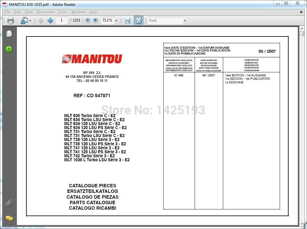 Detail Feedback Questions about Manitou Forklift Parts catalogs