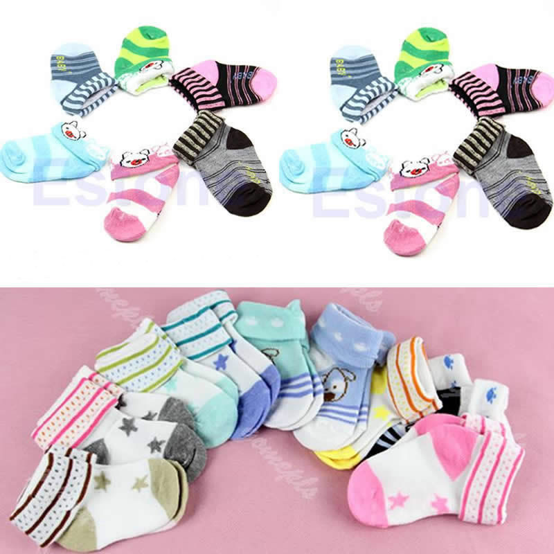 1pc Warm Cartoon Baby Toddler Nonslip Booties Anklet Shoes Ankle Socks