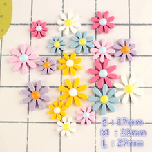 10pcs/lot Resin Small flower Decoration Crafts Kawaii Flatback Cabochon Embellishments For Scrapbooking DIY AccessoriesButto
