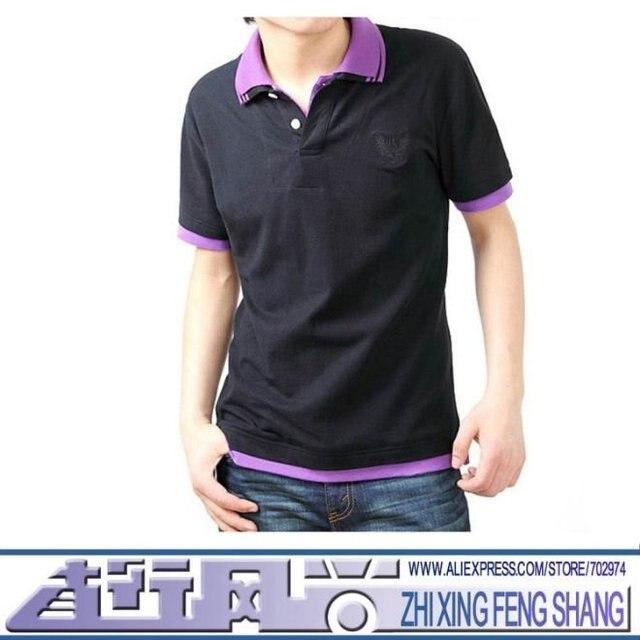 3bde5416aee New Arrival 100% Cotton Double Collar Design Mens Casual T-shirts Zhi Xing  Feng Shang Guangzhou MN1005