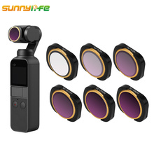 Sunnylife DJI OSMO POCKET Accessories MCUV CPL ND4 ND8 ND16 ND 32 ND 64 Camera Lens Filter for DJI OSMO POCKET Gimbal Camera sunnylife dji mavic 2 pro lens filter gimbal camera filter set mcuv cpl nd4 nd8 nd16 nd32 for dji mavic 2 pro drone accessories