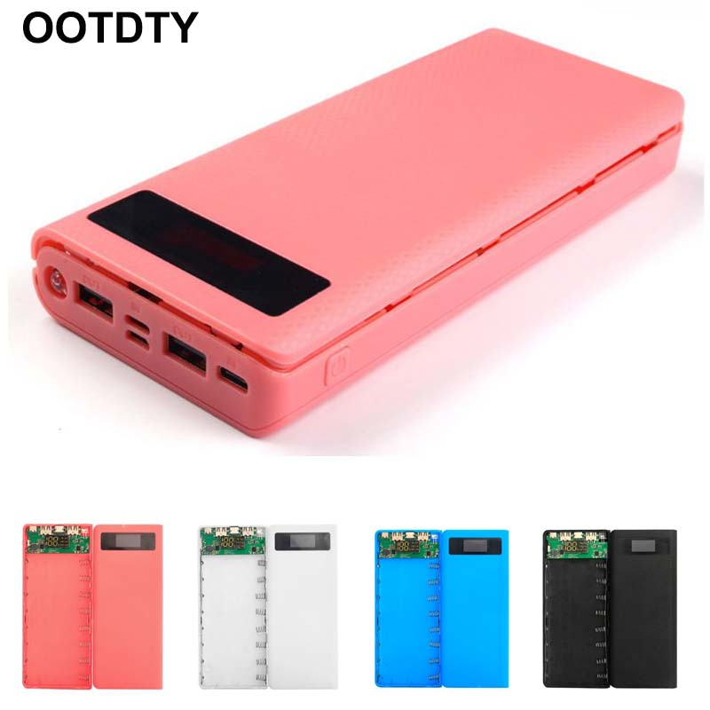 3 Ports Input Dual USB Output LED Light 8x 18650 Battery DIY Power Bank Box Holder Case For Mobile Phone Tablet PC