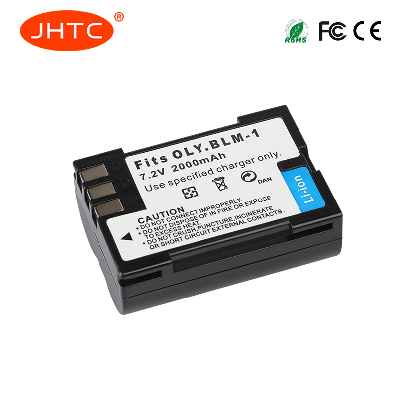 JHTC 1pc 2000mAh PS-BLM1 BLM-1 BLM1 Camera Battery For Olympus C-5060 C-7070 C-8080 E-30 E-300 E-330 E-500 E-510 E-520 E3 E30 replacement blm 1 7 4v 1800mah battery pack for olympus camedia c 5060 wide e 1 more