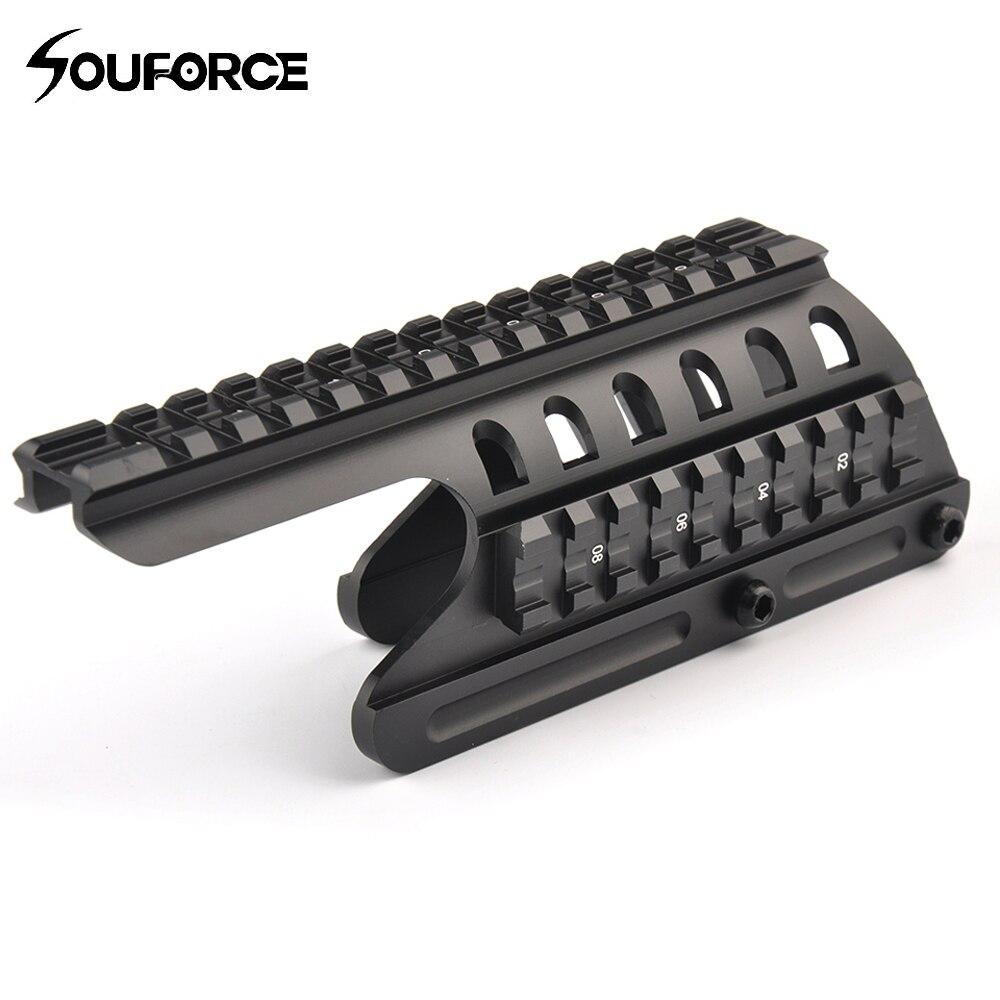 Haute qualité tactique 20mm Double Picatinny Rail Mount 160mm longueur système adapté pour Remington 870 RM870 tir pistolet 12 GA portée