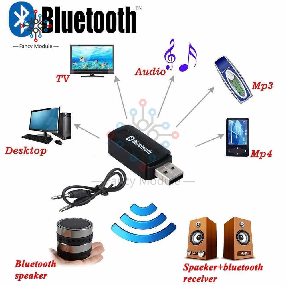 Inalámbrico Bluetooth 3,5mm AUX Audio estéreo música hogar coche receptor adaptador Mic