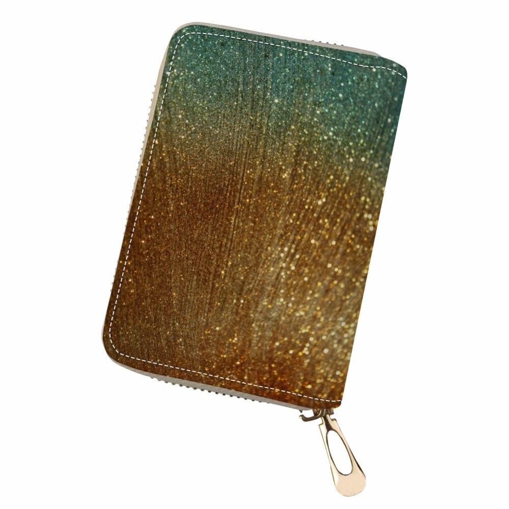 Customized travel wallet Pochette Surprise Double Open Business Card gradual change Woven style stripe cute card holder