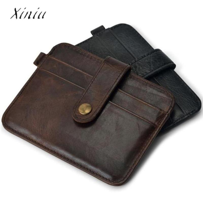 2019 New Hot Sale Vintage Slim Credit Card Holder Mini Wallet ID Case Purse Bag Pouch Artificial Leather Travel Wallet Pocket