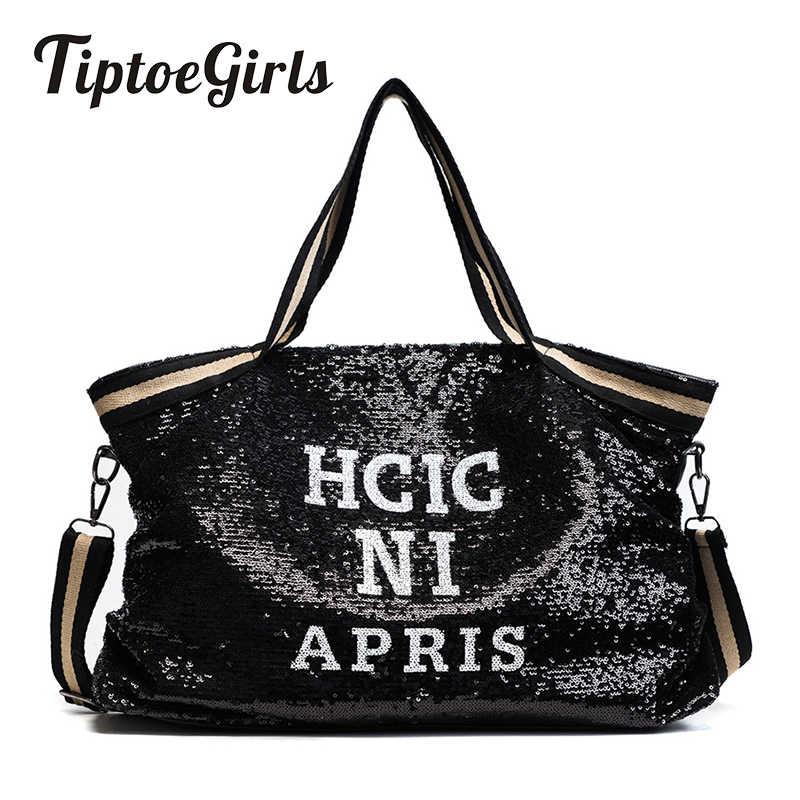 Bolsos De Mujer con lentejuelas de gran capacidad para mujer bolsos de mano con apliques para dama bolsos de mano casuales nacionales para chica