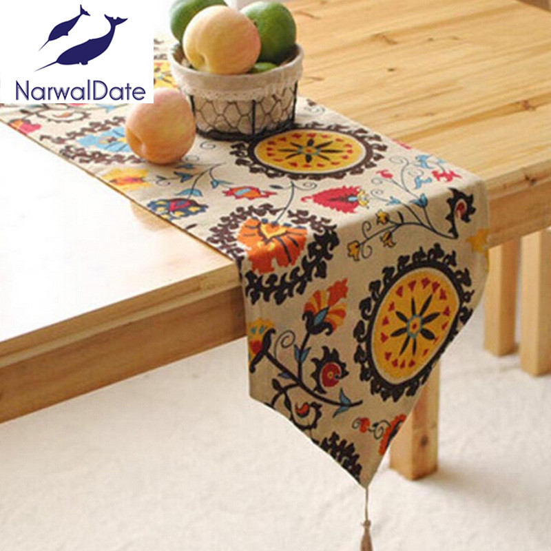 Quality Fluid Systems table runner classical Chinese tea table cloth sunflowers priting tablerunners in Table Runners from Home Garden