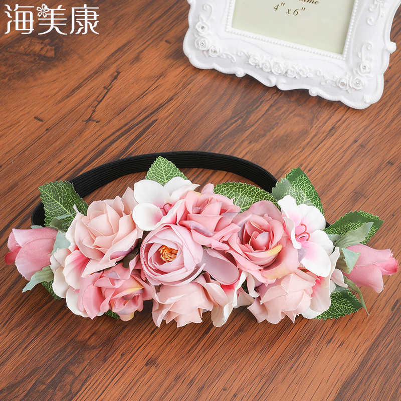 X3 FLOWER ROSE HAIR ELASTICS BOBBLES FOR GIRLS FLOWER GIRLS WEDDINGS ACCESSORIES