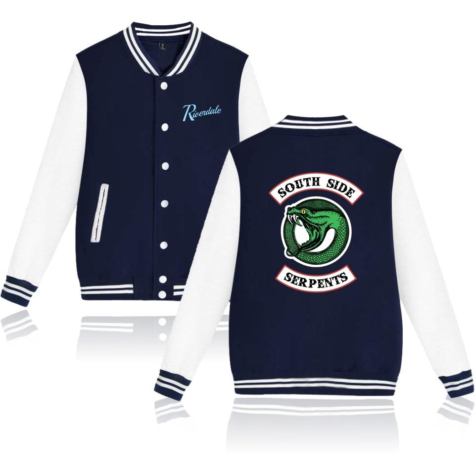 Riverdale Jackets Winter Fashion Jacket Cool And Female Fan Casual Baseball Jacket XXS To 4XL Good Quality