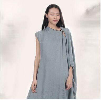 Haute qualité grande taille femmes robe d'été 2017 nouvelles robes de soie lâche irrégulière dame caftan Abaya Jilbab robes musulmanes islamiques