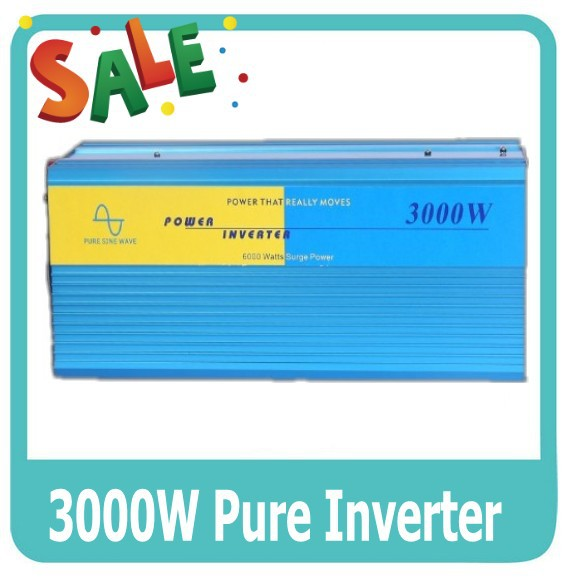 3000 Watt Pure Sine Wave Inverter DC to AC Power Inverters, 6000W Peak Power, 3000W Off Grid Wind Solar System Inverter