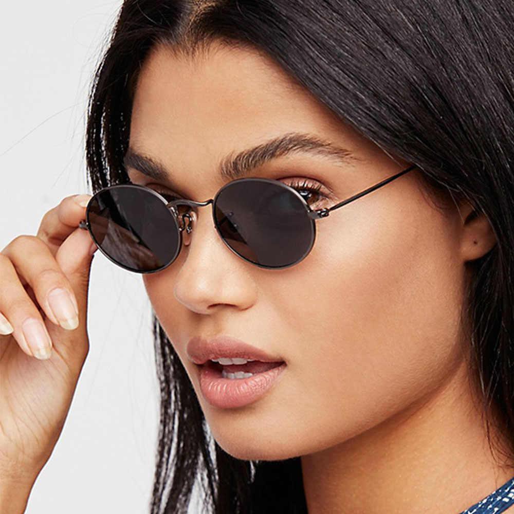 e5199b55308 ... Brand Small Oval Glasses Women s Round Sunglasses Men Hip Hop Rap  Vintage 2018 Fashion Ladies Sunglasses ...