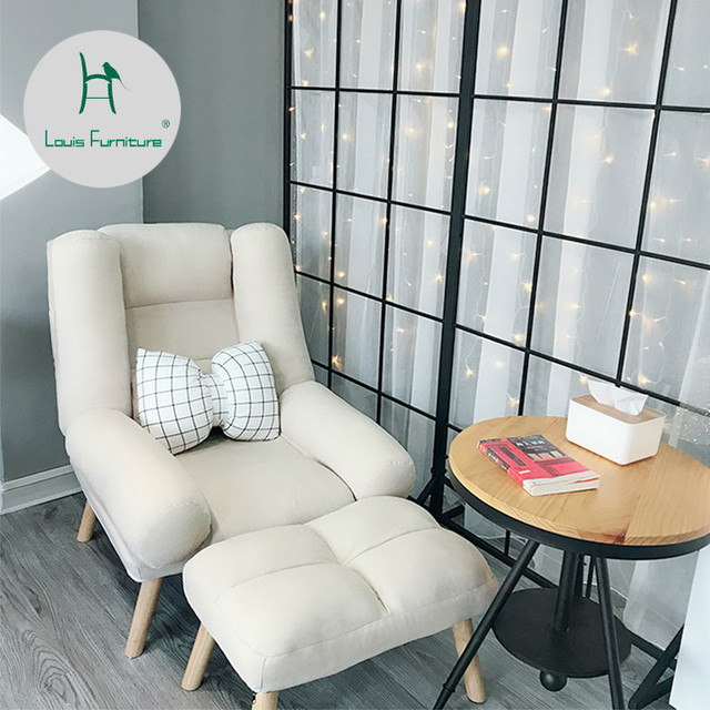 Louis Fashion Living Room Sofas Lazy Man Single Balcony Bedroom Mini Sofa Reading Leisure Folding