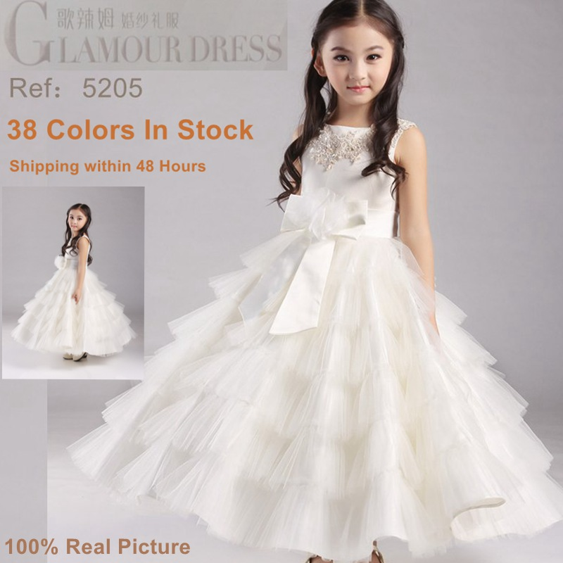 db31dae25 Free Shipping 2 10 Years Fluffy Flower Girl Dresses For Weddings 2016 New  Girl Pageant Gowns Kids Party Dress Factory Wholesale-in Flower Girl Dresses  from ...