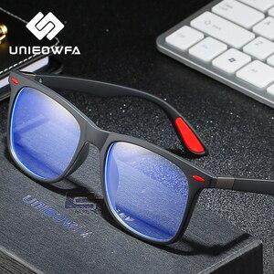 Image 2 - UNIEOWFA Retro şeffaf gözlük çerçeve erkek kadın optik miyopi gözlük çerçevesi şeffaf gözlükler TR90 reçete gözlük