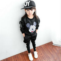 Cartoon Black Kids Clothes Boys Clothes Sets For Autumn Baby Girls Clothing Set Sweater And Pants