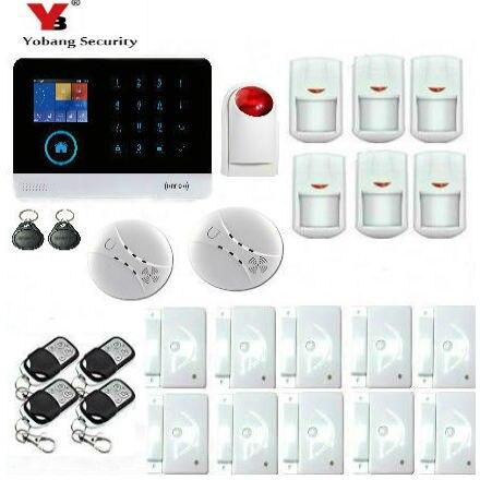YobangSecurity WiFi GSM GPRS RFID Home Burglar Fire font b Alarm b font font b System