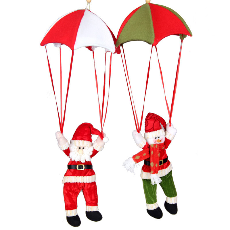 Christmas Home Ceiling Decorations Parachute Santa Claus Snowman New Year Hanging Pendant Decoration Supplies BP116 In Drop Ornaments