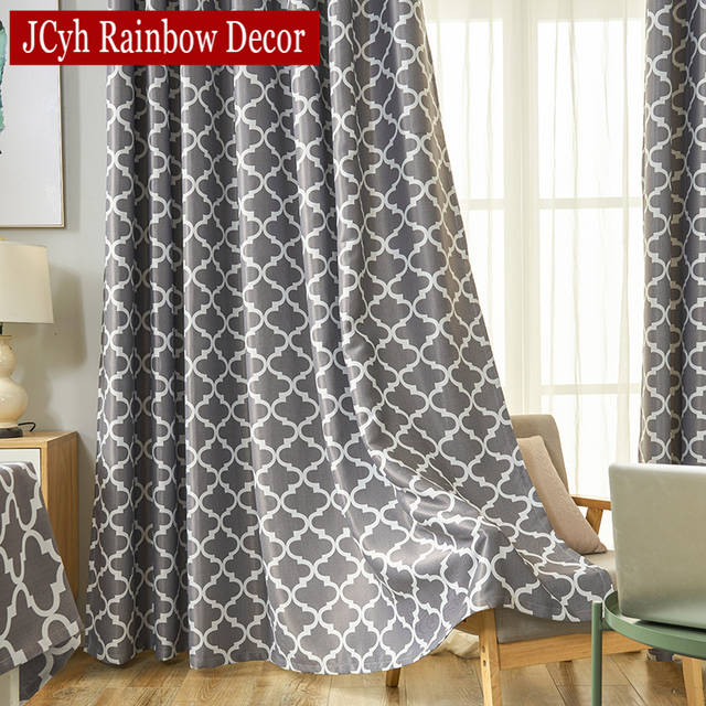 Gray Blackout Curtains For Bedroom Window Curtains Living Room Ready Made  Cortinas Blinds Drapes Tende Rideaux Vliegengordijn