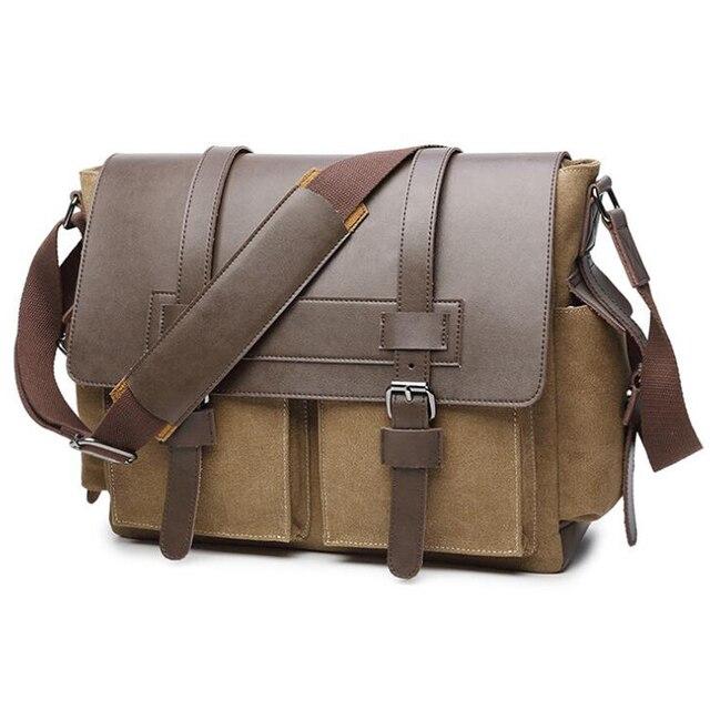 Men Messenger Bags Men's Crossbody Bag For Men Canvas Bag Fashion Laptop Shoulder Bag Bolsa Masculina sac homme High Quality
