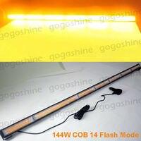 45 COB LED Traffic Advisor Emergency Flash Strobe Work Light Bar Warning Amber Kit Yellow Lamp