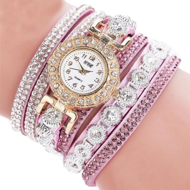 Watch 2017 relogio masculino Women Quartz Women PU Leather Rhinestone Watch Bracelet Watches Hours Horas Dropship 17JUN19 5