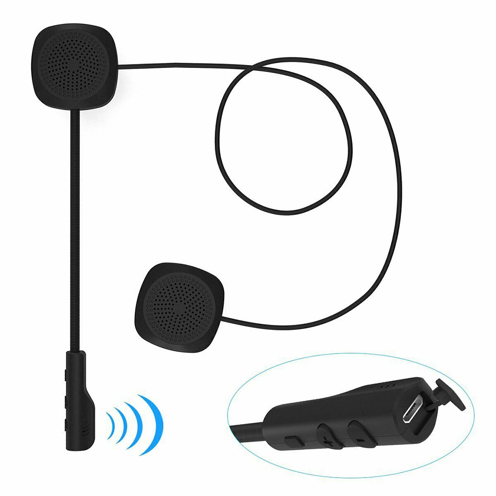 Universal MH04 Motorcycle Scooter Helmet Headset Wireless Bluetooth 5.0 Headset Speaker Handsfree Music Call Control Headphone