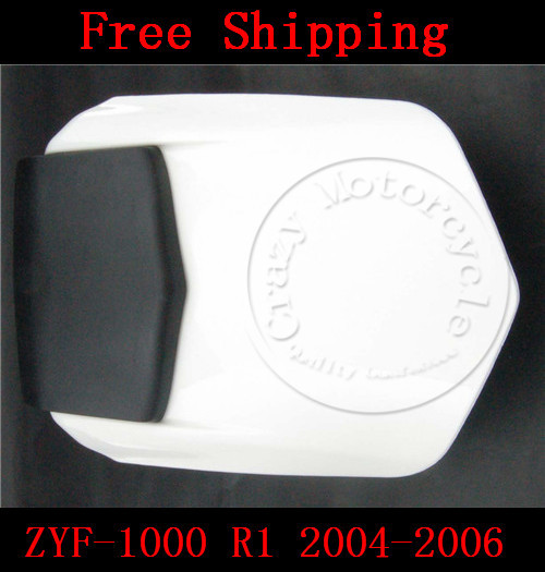 For Yamaha YZF 1000 R1 2004 2005 2006 motorbike seat cover Motorcycle White fairing rear sear cowl cover Free Shipping 1 pcs free shipping rear seat cover cowl for 2009 2012 yamaha yzf r1 yzf r1 2010 2011 09 12 white motorcycle fairing