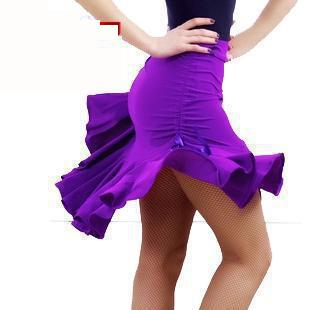 New Latin Dance Skirt Adult Skirt Sides Drawstring Latin Leopard Cha Cha/rumba/samba/tango Dance Costume Performamnce Dancewear