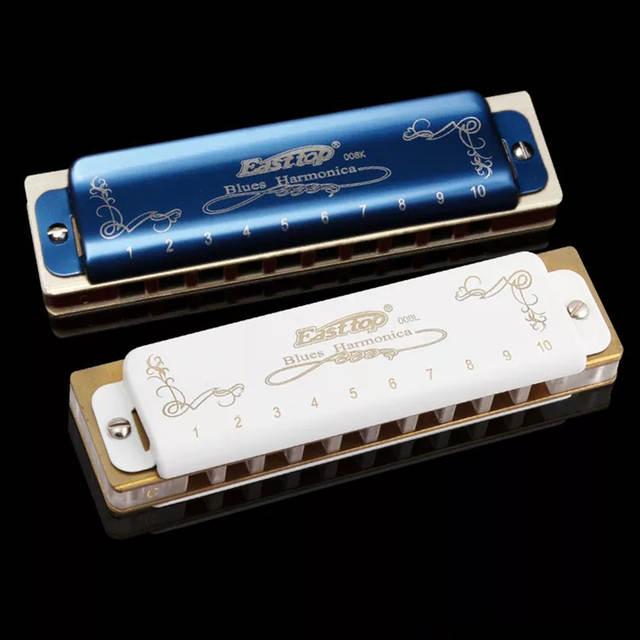 US $15 07 42% OFF|Easttop Harmonica Diatonic 10 Holes Blues Harp Mouth  Organ Music Instrumentos Harmonicas Key of C Musical Instruments T08K  T008L-in